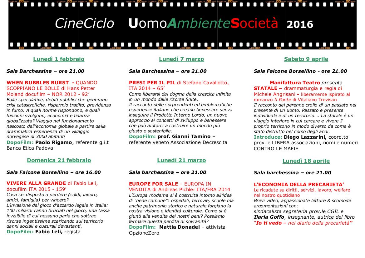 CineCiclo 2016 Legambiente Limena