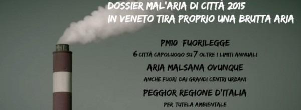 Aria inquinata: il dossier Mal'Aria di Legambiente Veneto